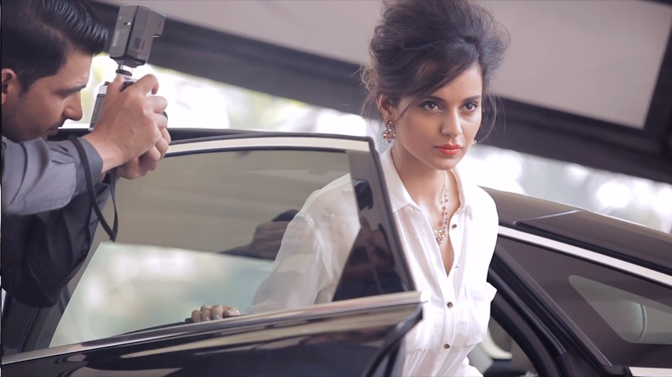 Behind the scenes with Kangana Ranaut for Tanishq